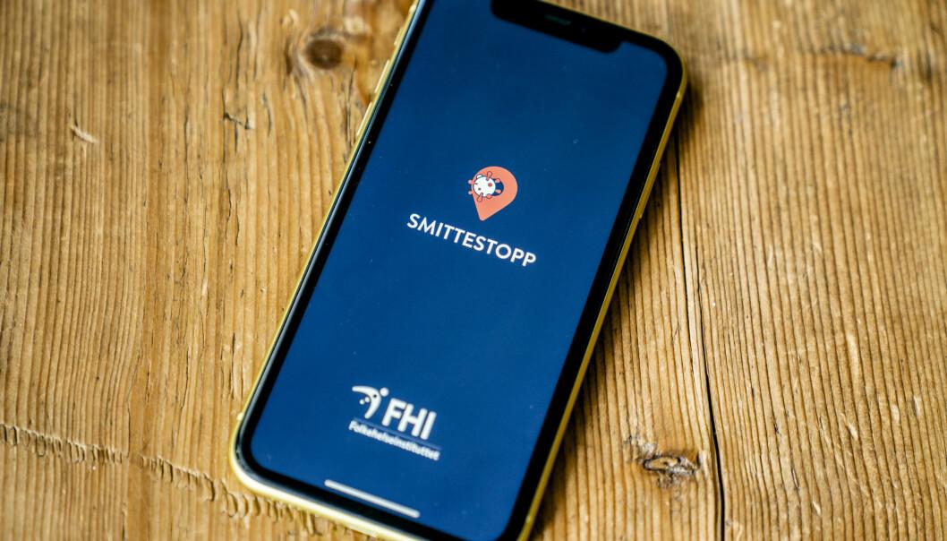 FHIs Smittestopp-app avvikles. Foto: Stian Lysberg Solum / NTB scanpix