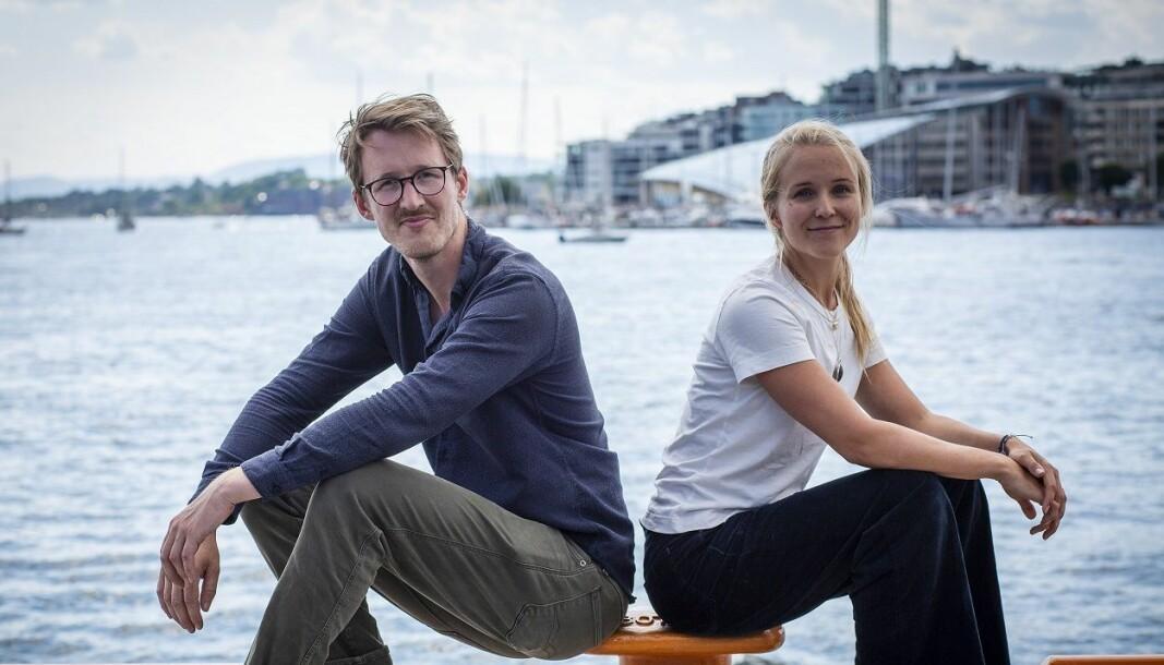 Orca-Gründer Kristian Fallrø sammen med Christine Spiten, som investerte i Orca Technologies på vegne av Atomico.