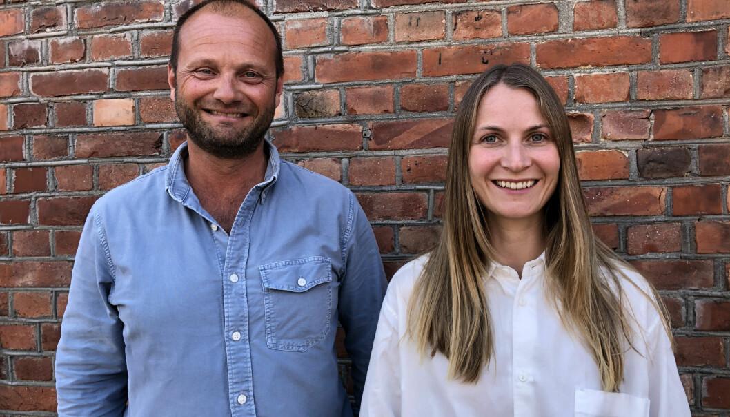 Gründerduoen Kristoffer Kvam og Elisabeth Falch Slinning i Smoc.ai.