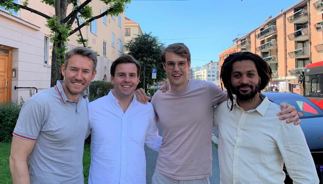Fra venstre: Sindre Noss, Fredrik Stang Heffermehl, Finn Olav Brækken, Stian Ihasee