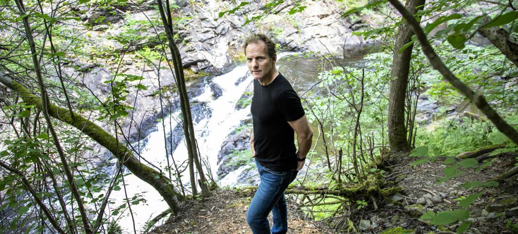 Rolf Assev ved Lysakerelva.