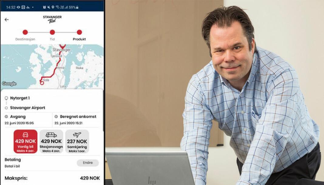 Gunnar Frogner Dahl, konsernsjef i Oslo Taxi går ikke inn i priskrig, selv om den nye TaxiFix-appen skal ta opp konkurransen med Uber