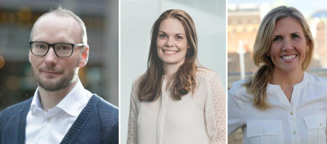 Rune Røsten i Schibsted Growth, Hilde Støle Pettersen i Momentum og Christine Corkery Steinsholt i Listfully.