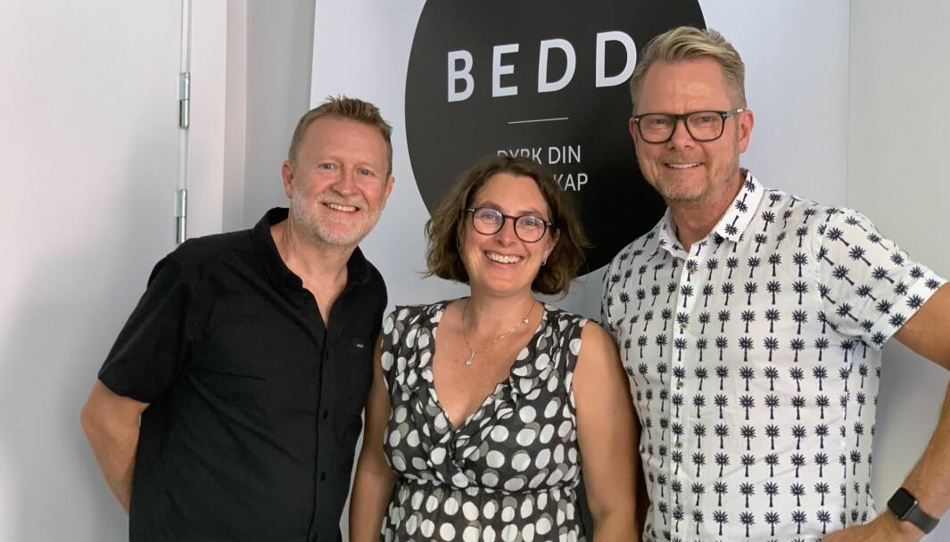Ian Skattum (til venstre), Katja Marty Bye og Tom Egeberg Hvål