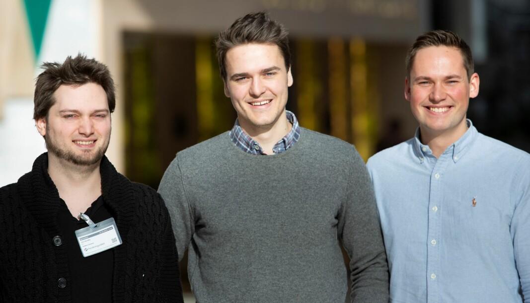 Fra venstre: Jon Nordby, Ole Johan Aspestrand Bjerke og Erik Sjølund i Soundsensing (tidligere ION).