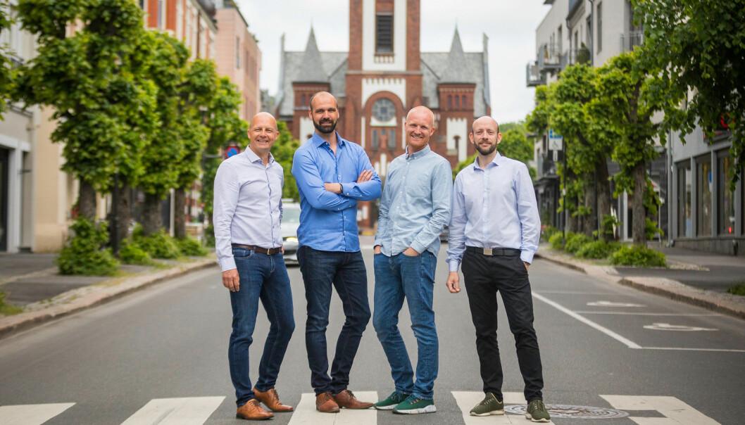 Pål Reinert Bredvei (t.v.), Jan Bredo Pettersen, Vidar Westrum og Morten Høyseth i Adminkit.