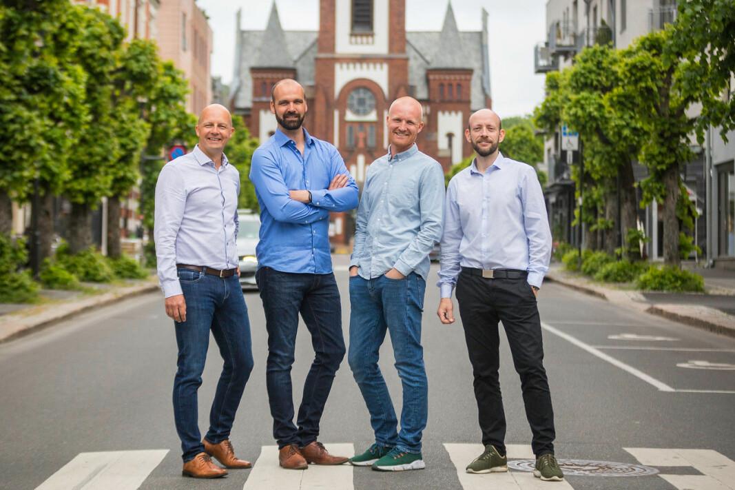 Pål Reinert Bredvei (t.v.), Jan Bredo Pettersen, Vidar Westrum og Morten Høyseth.