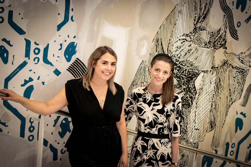 CEO i Unifai, Alexandra Gunderson har fått med seg Ine Oftedahl fra DNB som mentor