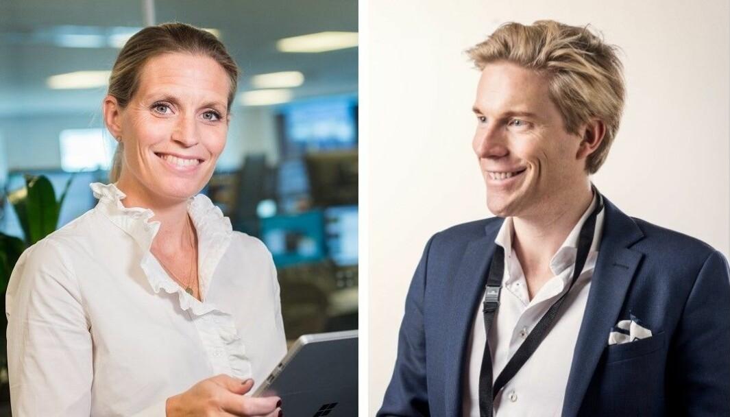 Johanna Herbst, CDO i Danske Bank og Christoffer Hernæs, CDO i Sbanken.