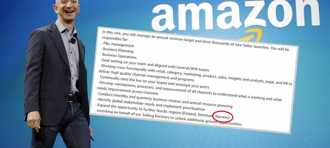 Bekreftet: Amazon skal utvide til Norge