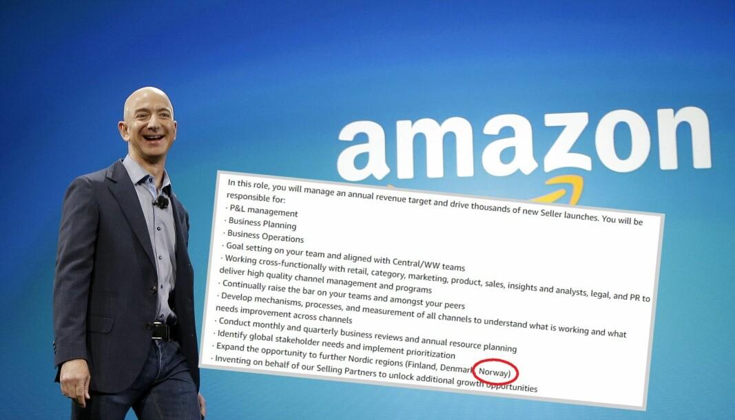 Amazon skal bruke Sverige som inngangsport til resten av Norden.