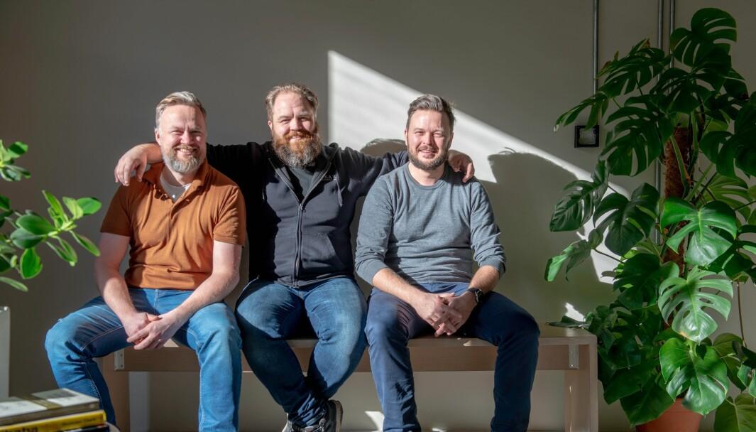 Gründerne av Iterate. Fra venste Rune Larsen (daglig leder), Kim Ophus Leskovsky og Anders Haugeto (styreleder)