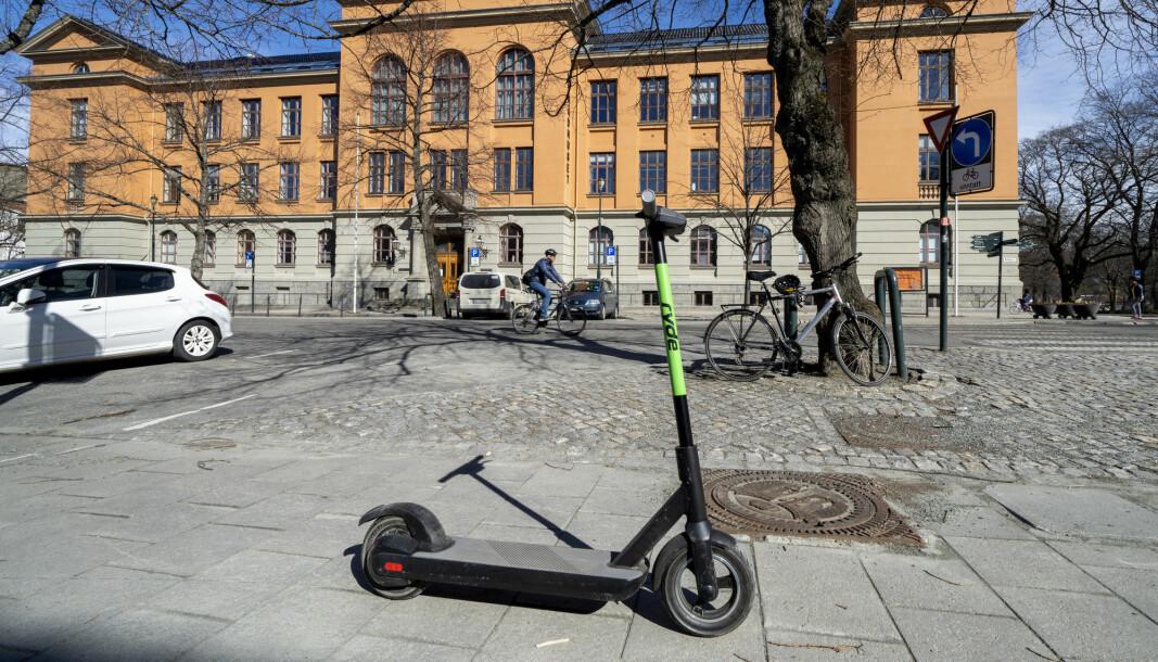 Trondheim 20200422.  Trøndelag tingrett, som slo fast at elsparkesykkel-selskapet Ryde igjen får leie ut sykler på Trondheim kommunens område. Foto: Gorm Kallestad / NTB scanpix
