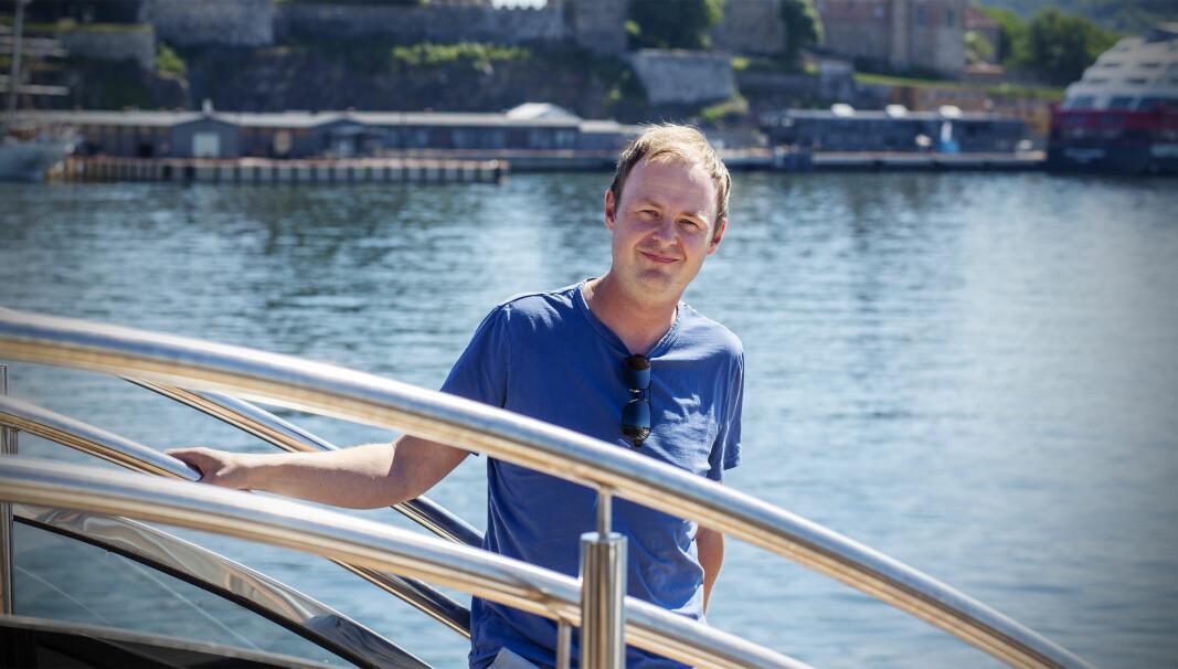 Magne Uppman forteller om hvilke gründere han liker, ombord på Shifters sommerbåt, for anledningen BRIM Explorer.