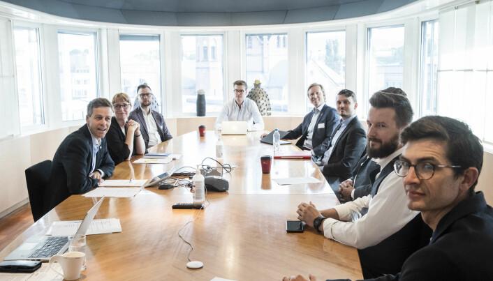 Samferdselsminister Knut Arild Hareide møtte sparkesykkelaktørene i dag.