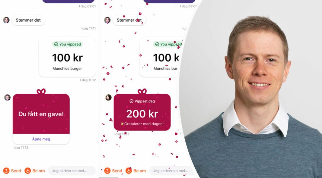 """Stacc X-partner Marius Hauken sier """"nei takk"""" til å betale fem kroner for virtuell konfetti."""