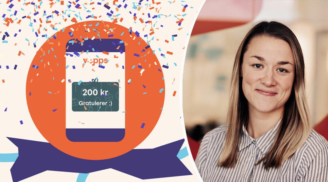 Produktsjef for vennebetaling i Vipps, Ninni Høver, lover videreutvikling av gavetjenesten.