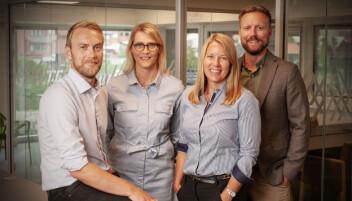 Ledelsen i Fonn: Gründer Jan Tore Grindheim, operasjonell leder Kine Lunde, finanssjef Hilde Sælen og salgs- og markedssjef Daniel Skotheim.