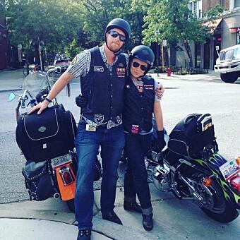 John French og Anita Schjøll Brede på motorsykkeltur i USA.