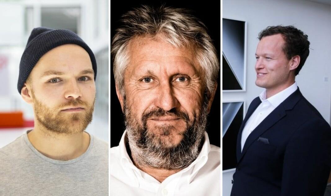 Kjetil Holmefjord ved Startuplab, rådgiver Anders Lindqvist i Vascaia og advokat Remi Dramstad i Selmer.