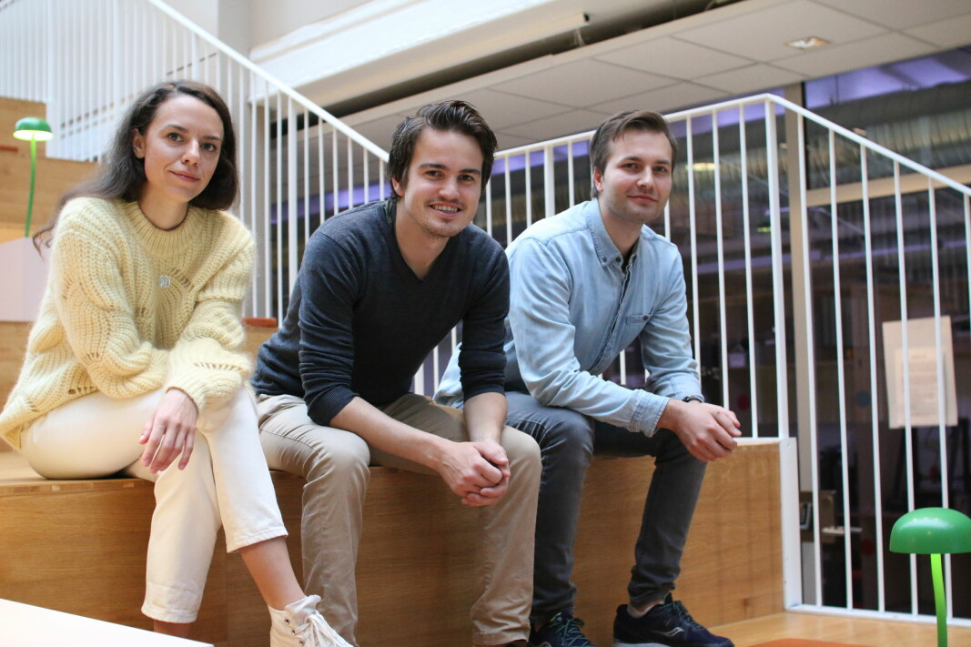 Markedssjef Anna Dranovska, daglig leder Johan Ravn og medisinsk ansvarlig Markus Kreutzer Johnsen i Medsensio.