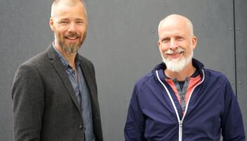 Gründerne Lars Petter Kjos (produktdirektør) og Rolf Risnes (daglig leder) i Motimate. . Foto: Motimate