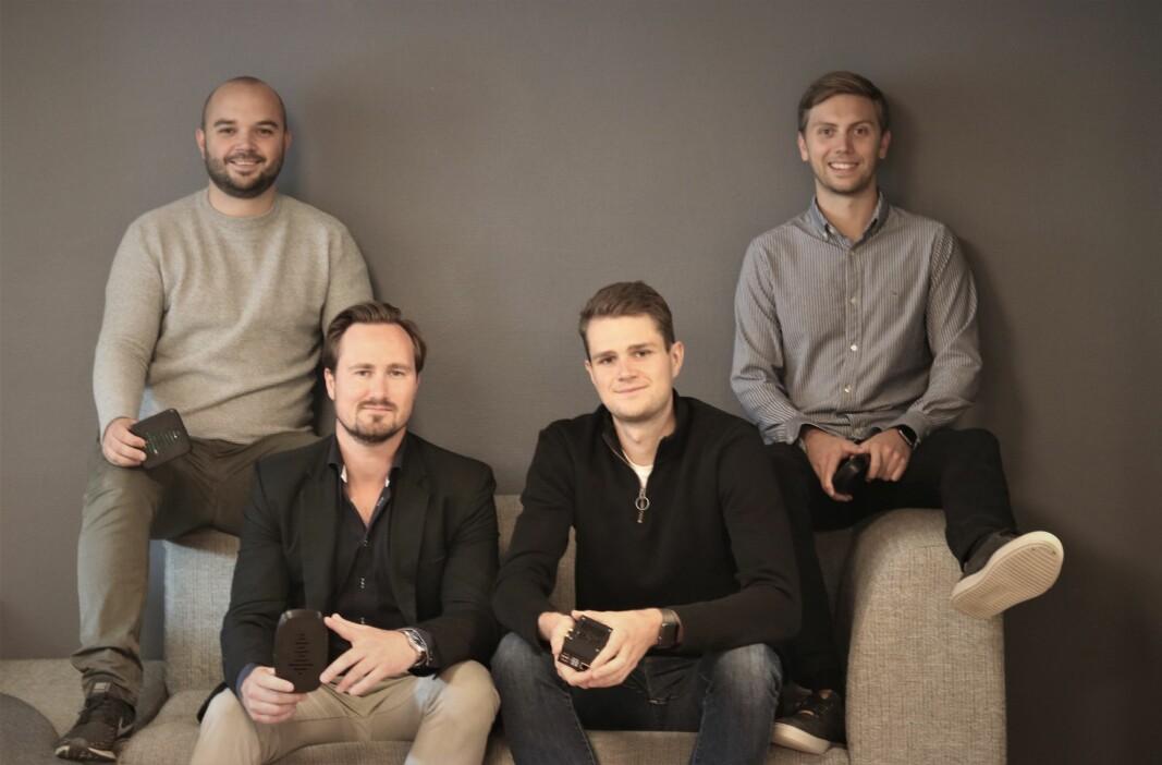 Waved-teamet. F.v. CEO Daniel Harper, CFO Jonas Andersen, CTO Endre Hauge Paulsen og CMO Fredrik Sande. Alle er medgründere av selskapet.