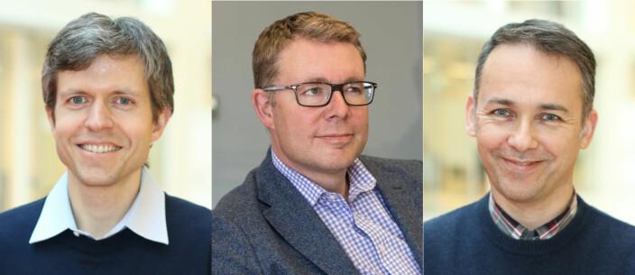 Gründer og teknologisjef Øyvind Grotmol, daglig leder Neil Chapman og medgründer og sjefmatematiker Per Christian Moan i Exabel.
