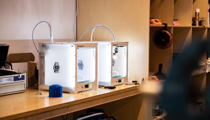 Hos StartupLab kan innovative oppstartsbedrifter leke seg med produksjonsutstyr – blant annet 3D-printere – og teste ut prototyper.