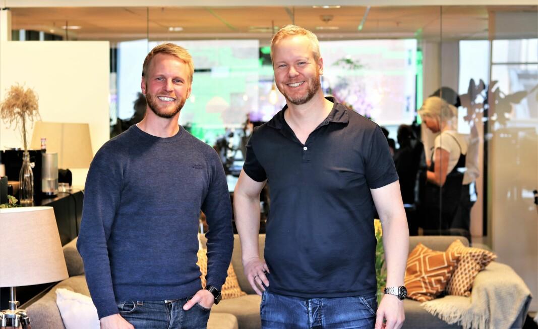 Lillebror Stig Olav Kasin (venstre) er innholdssjef i Portal One, mens storebror Bård-Anders er daglig leder.