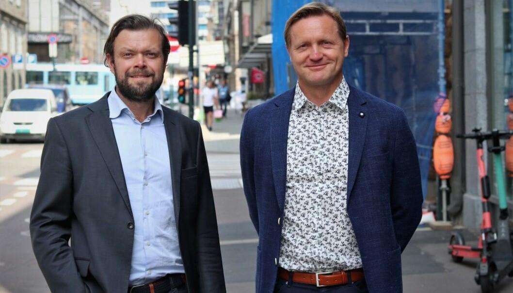 Investeringssjef Christopher Hjelseth og daglig leder Vidar Aksland er de to eneste gjenværende ansatte i Finstart Nordic.