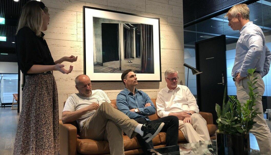 Investment manager Frida Rustøen, Partner Espen Agdestein, Managing partner Kristian Øvsthus, Chair Anders Brandt og Partner Rune Holen.