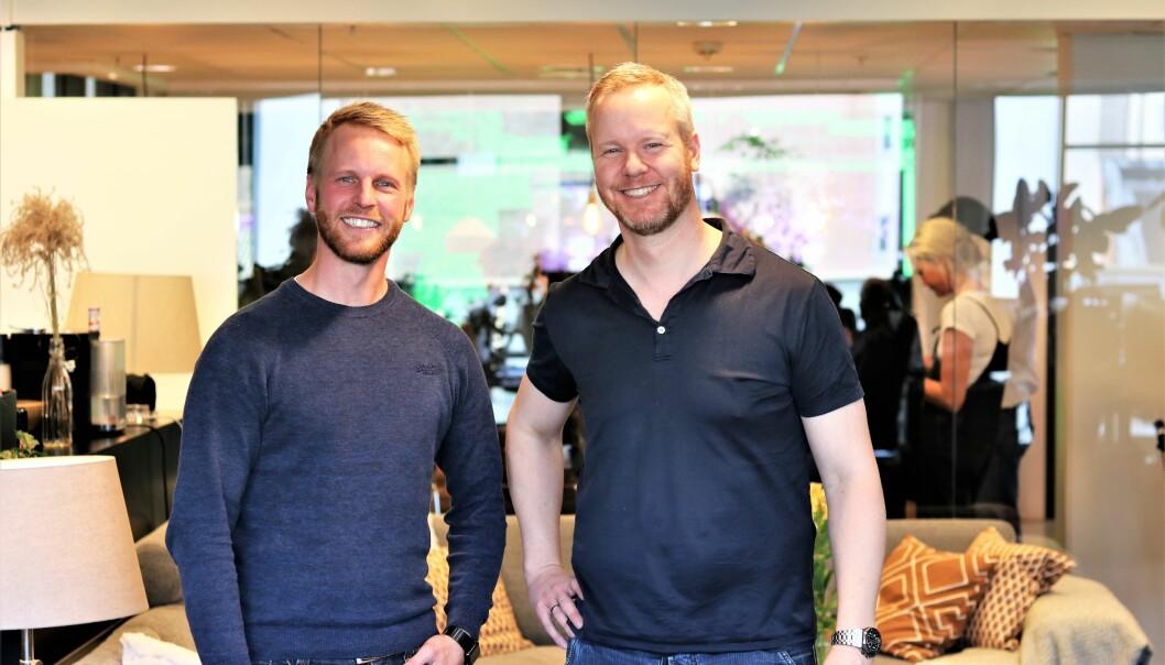 Gründerbrødrene Stig Olav og Bård Anders Kasin i PortalOne har sikret ny finansiering.