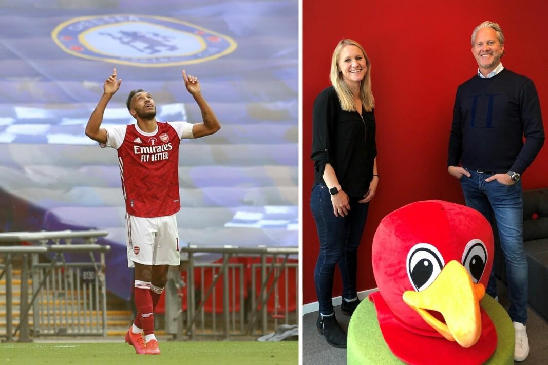 Anne-Lise Johnsen Robb har jobbet i både toppklubben Arsenal og Chelsea. Nå skal hun lede den internasjonale skolesatsingen til Pickatale. Til høyre er selskapets daglige leder, Espen Viskjer.