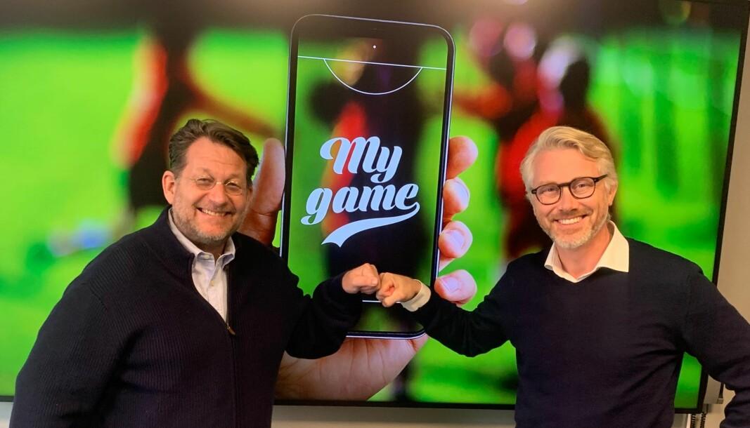 Harald Strømme står bak My Game og mener TV 2-sjef Olav T. Sandnes er den ideelle partneren for satsingen. Sammen skal de strømme flere tusen håndball- og ishockey-kamper i året.
