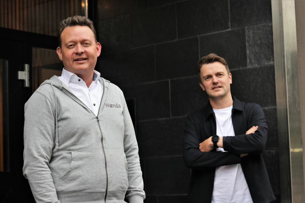CEO Lars Syse Christiansen og CPO Mathias Haddal Hovet i lagerselskapet Wanda.