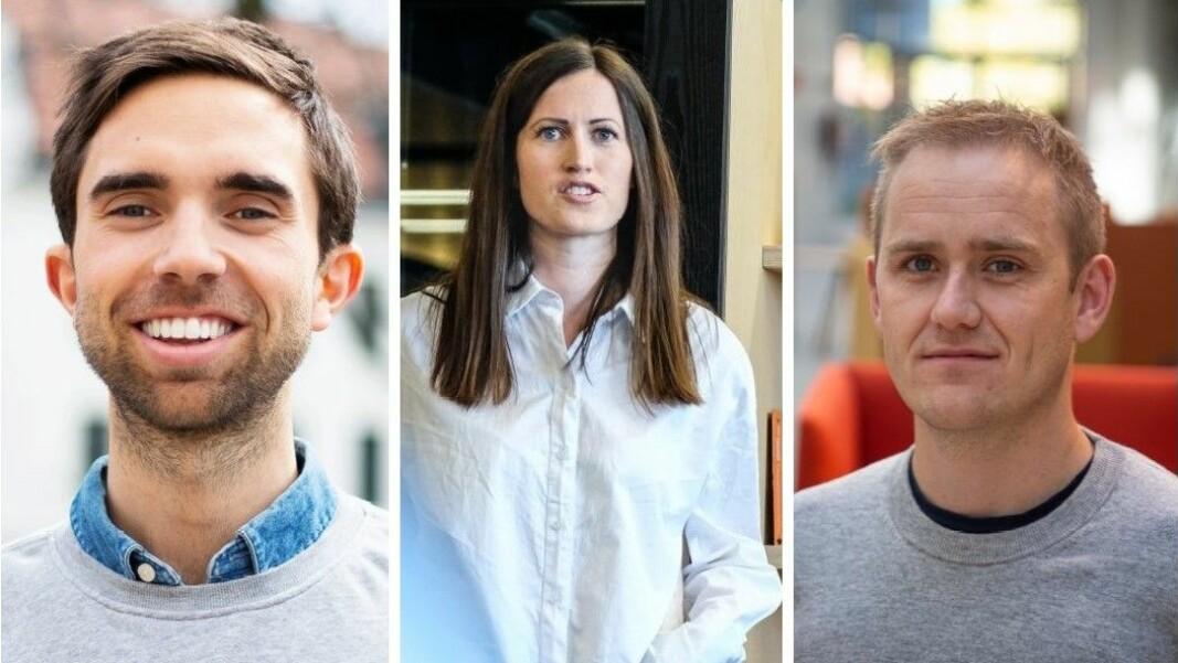 Gründer-Norge, her ved Eirik Rime i Tise, Marie Mostad i inzpire.me og Geir Atle Bore i Fundingpartner, er skuffet over at regjeringen ignorerer opsjonsordningen i statsbudsjettet.