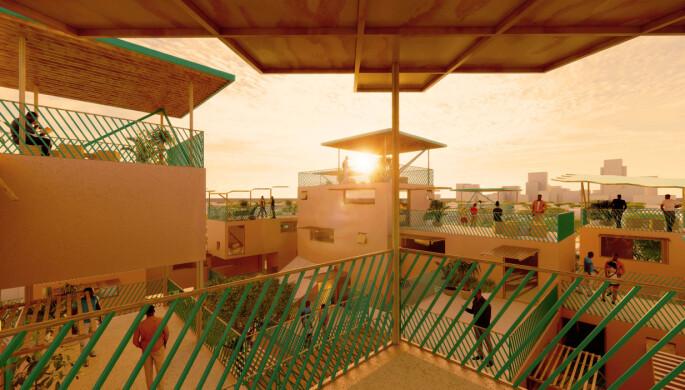 Slik ser Othalo for seg de nye boligområdene av plast.