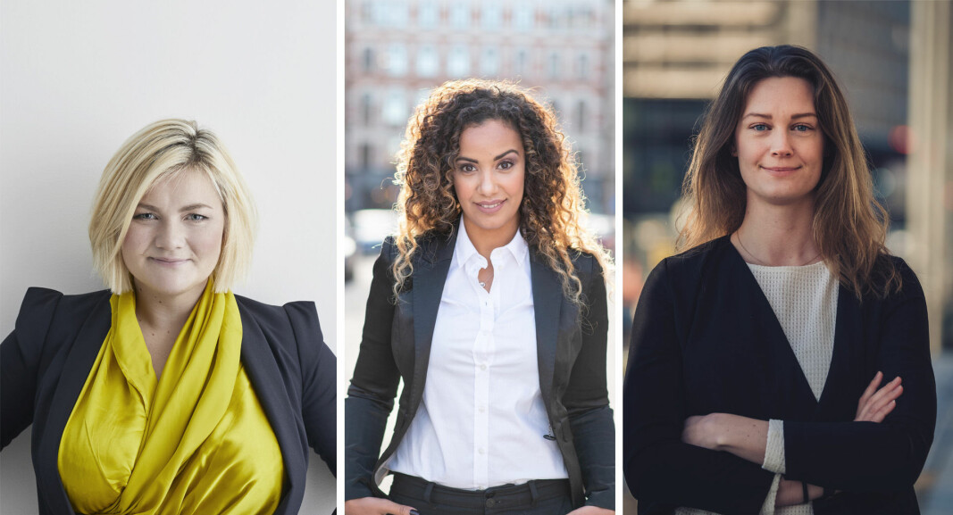 Thea Messel og Nora Bavely, begge General Partner i Unconventional Ventures, og CEO i Norwegian Venture Capital Association, Ellen Amalie Vold