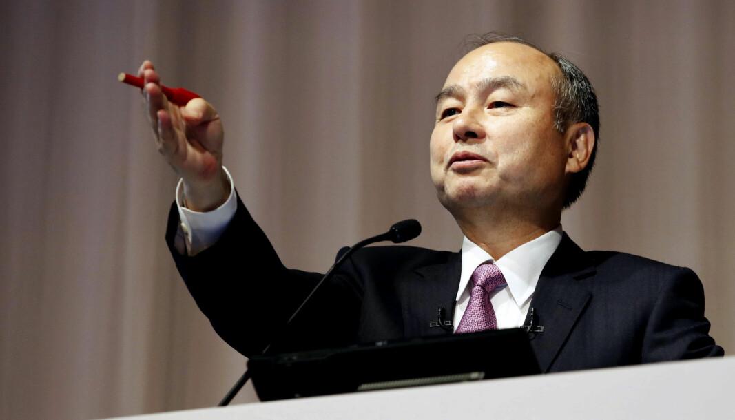 CEO i Softbank, Masayoshi Son er Japans rikeste mann. (Kyodo News via AP, File)