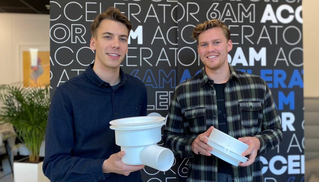 Stian Kvaran Bongard og Henning Philip Patricksson har startet selskapet SlideGrain.