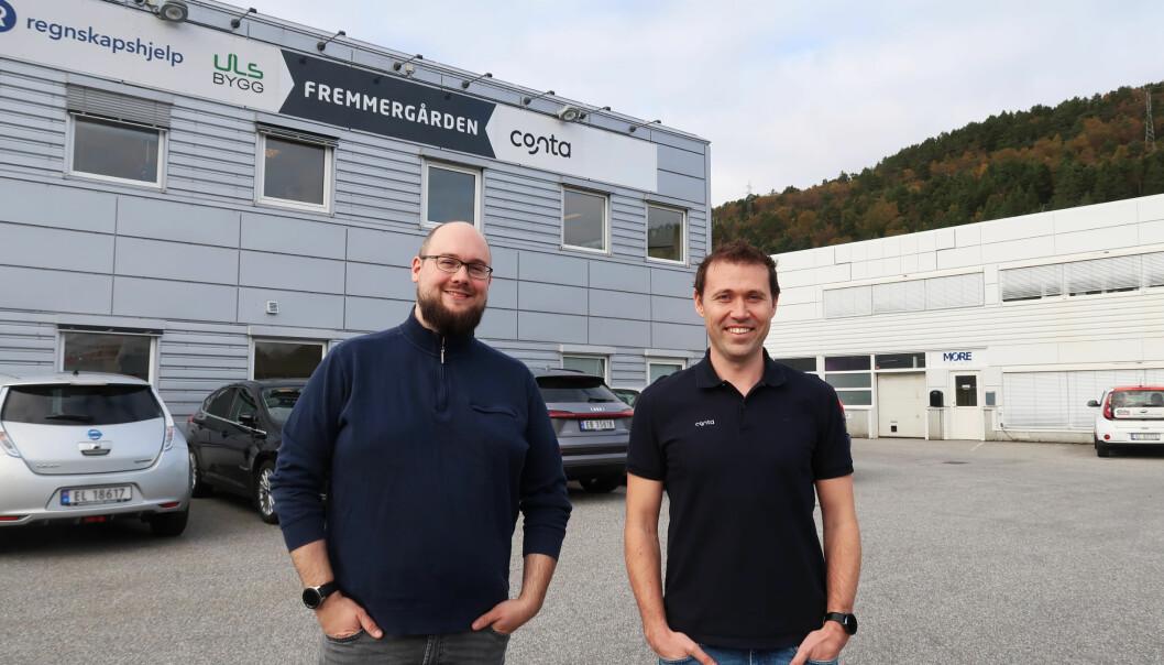 Daglig leder i Timerabbit, Audun Sæther og daglig leder i Conta,Jan-Tore Holen.