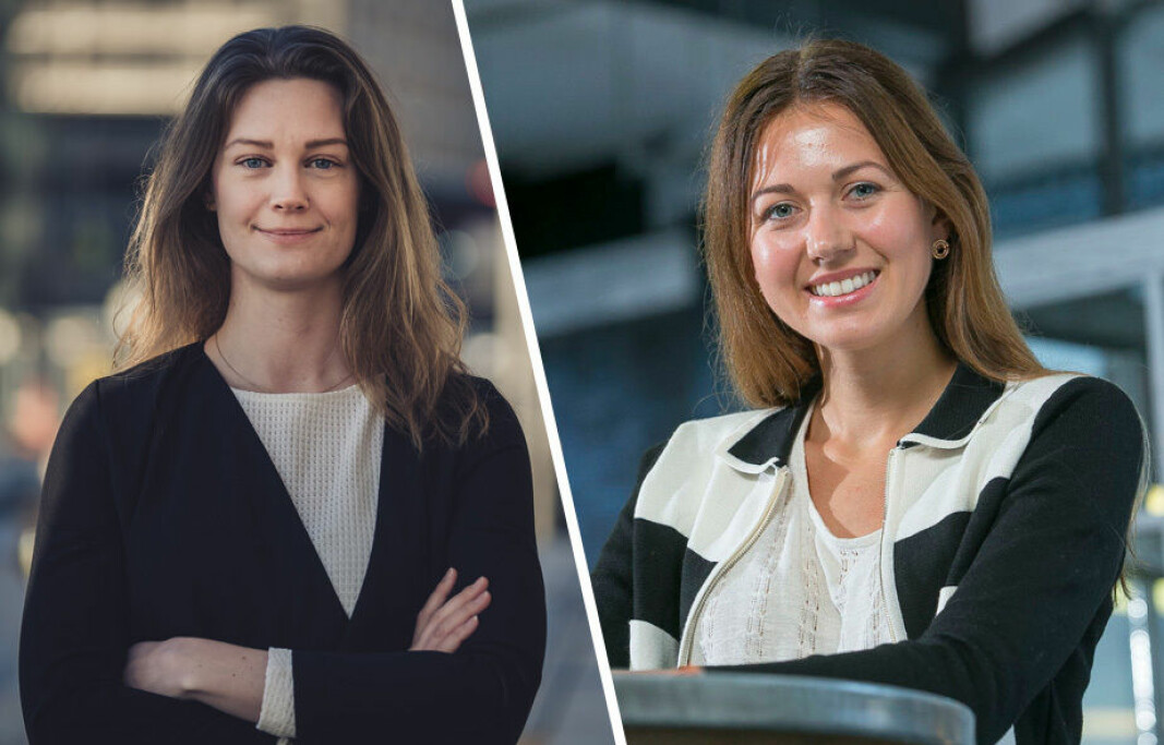 Administrerende direktør Ellen Amalie Vold i Norsk Venturekapitalforening og investor Magda Lukaszewicz i Balderton.