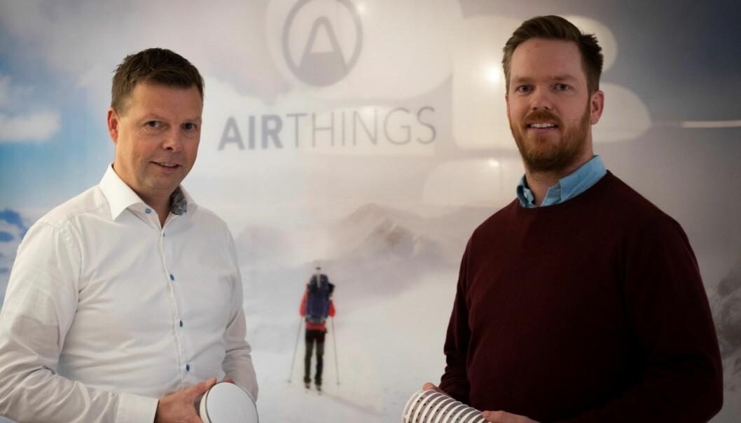CEO Øyvind Birkenes og CFO Erik Lundby i Airthings