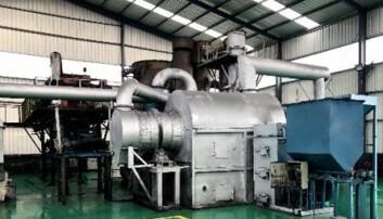 WAI Rotasjonsreaktor tilpasset små mengder biomasse.