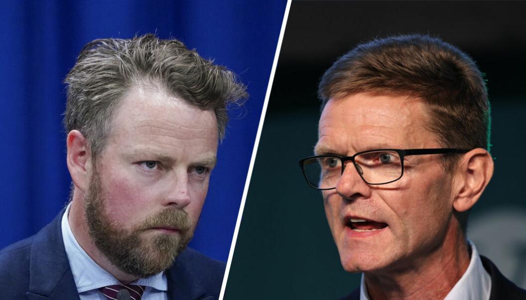Arbeids- og sosialminister Torbjørn Røe Isaksen avfeier forslaget til parlamentarisk leder Terje Breivik i Venstre.