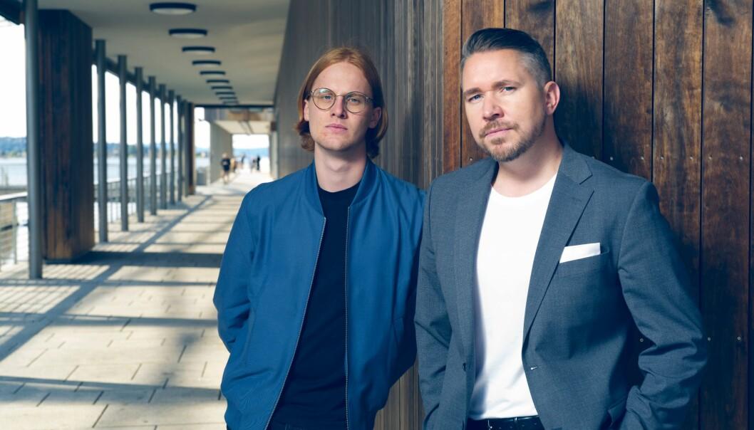 François Savard og Erling Løken Andersen står bak advokatguiden.