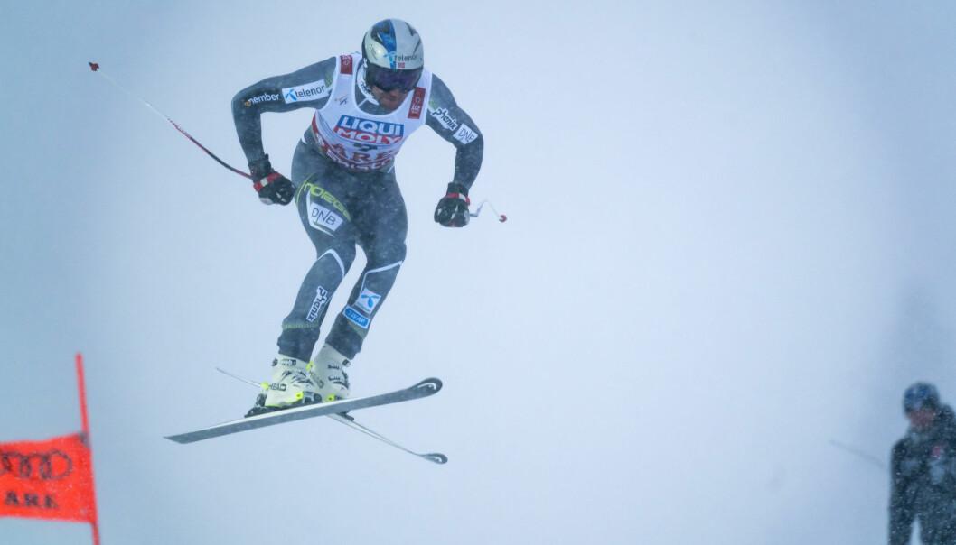 Aksel Lund Svindal i aksjon under et utforrennet under VM i alpint i Åre. Etter karrieren har han gjort det godt som investor. Foto: Cornelius Poppe / NTB