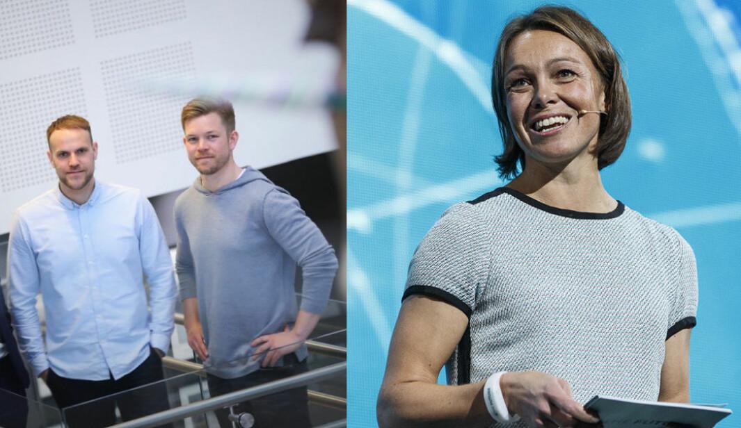 Karianne Melleby i StartupLab mener Konkurransetilsynets stans av Schibsteds kjøp går aller mest utover Nettbil-gründerne Anders Espelund og Eirik Thorsen.