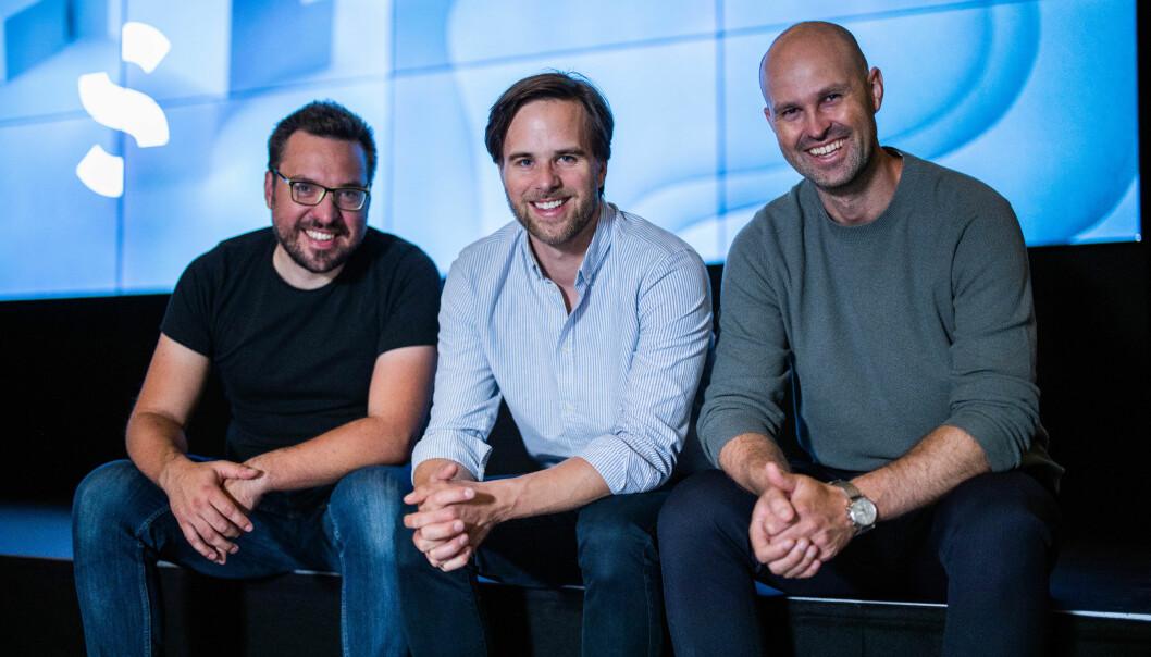 De tre gründerne av Spacemaker. Fra venstre; Carl Christensen (CTO), Håvard Haukeland (CEO) og Anders Kvåle (arbeidende styreformann).